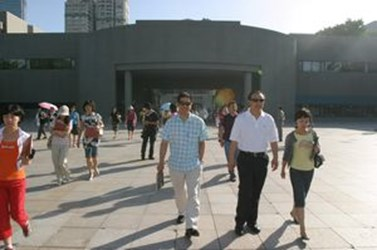 Mayor Hu recommends famous scenic spots such as Taichung Park to Mainland Survey Delegation (MSD) visiting Taichung(2008-06-23)