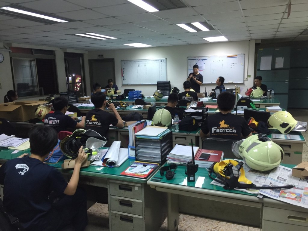The Central Detachment of the 7th Brigade of Taichung City Fire Bureau Held Headphone Radio Operation and Floor Plan Drawing Training