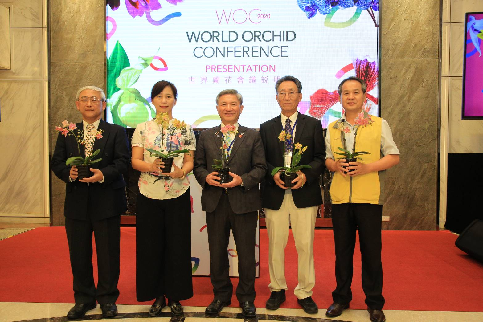 2020 World Orchid Conference will be held in Taichung. Deputy Mayor Chang invited international friends to join this event.