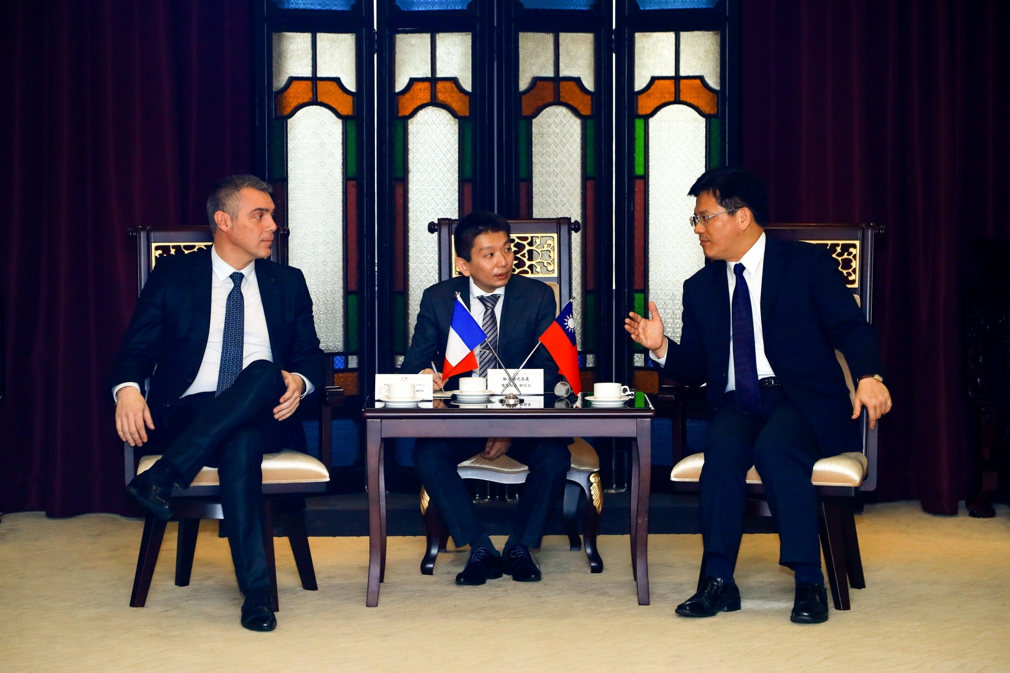 The France-Taiwan Parliamentary Friendship Group Visits Taichung City Government; Mayor Lin Hopes to Facilitate Innovation and Cultural Exchange between Taiwan and France
