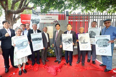 Historical scene signboard of Town in Culture City unveiling  Mayor Lin: Get knowing Taichung in depth and love Taichung